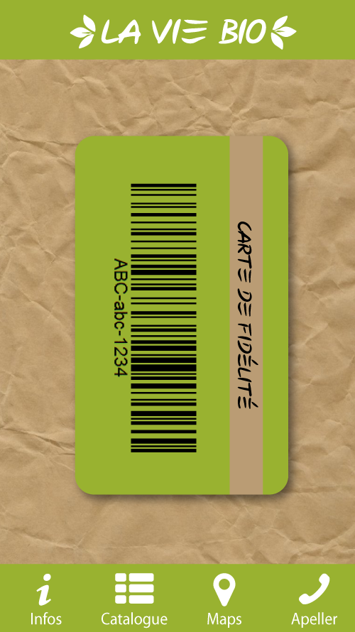 Carte de fidélité
